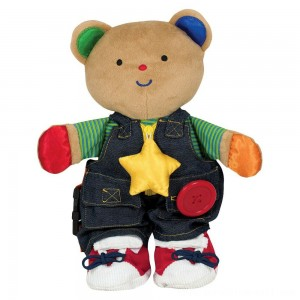 Melissa & Doug K's Kids - Teddy Wear Stuffed Bear Educational Toy - Sale