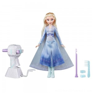 Disney Frozen 2 Sister Styles Elsa Fashion Doll With Extra-Long Blonde Hair, Braiding Tool and Hair Clips - Sale