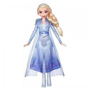 Disney Frozen 2 Elsa Fashion Doll With Long Blonde Hair and Blue Outfit - Sale
