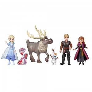 Disney Frozen 2 Adventure Collection, 5 Small Dolls from Frozen 2 - Sale