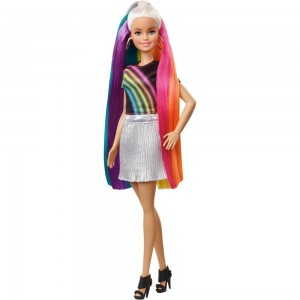 Barbie Rainbow Sparkle Hair Barbie Doll - Sale