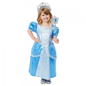 Melissa & Doug Royal Princess Role Play Costume Set (3pc) - Blue Gown, Tiara, Wand, Women's, Size: Small - Sale
