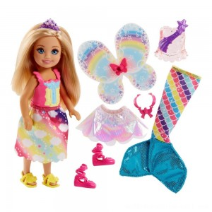 Barbie Dreamtopia Chelsea Doll and Fashions - Sale
