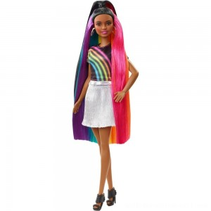 Barbie Rainbow Sparkle Hair Nikki Doll - Sale
