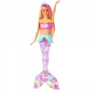 Barbie Dreamtopia Sparkle Lights Mermaid - Sale