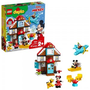 LEGO DUPLO Disney Mickey's Vacation House 10889 Toddler Building Set with Minnie Mouse - Sale