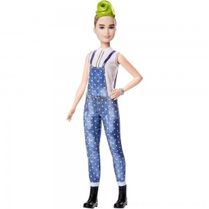 Barbie Fashionistas Doll #124 Green Mohawk - Sale