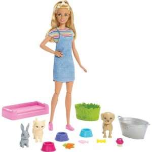 Barbie Play 'n' Wash Pets Doll and Playset - Sale