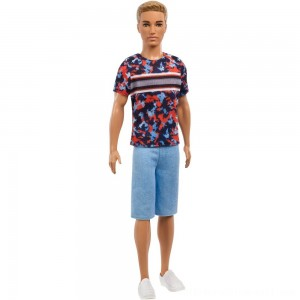 Barbie Ken Fashionistas Doll - Hyper Print - Sale