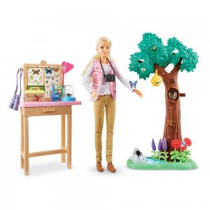 Barbie National Geographic Butterfly Scientist Playset - Sale