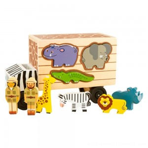 Melissa & Doug Animal Rescue Shape-Sorting Truck - Wooden Toy With 7 Animals and 2 Play Figures - Sale