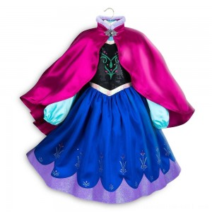 Disney Frozen 2 Anna Kids' Dress - Size 5-6 - Disney store, Girl's, Blue - Sale