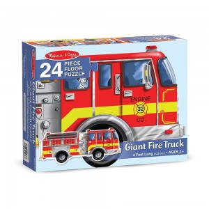 Melissa And Doug Fire Truck Jumbo Floor Puzzle 24pc - Sale