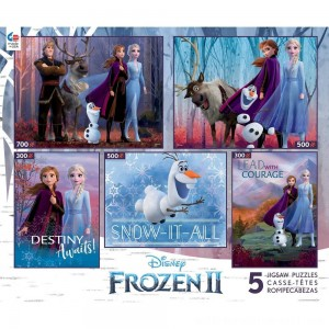 Ceaco Disney Frozen 2 5pk Puzzles 2300pc, Adult Unisex - Sale