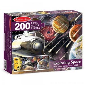 Melissa & Doug Exploring Space Jumbo Jigsaw Floor Puzzle 200pc - Sale