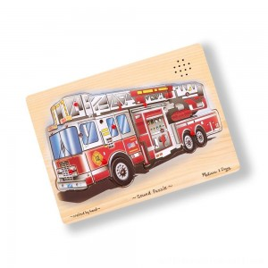 Melissa & Doug Fire Truck Sound Puzzle - 9pc - Sale