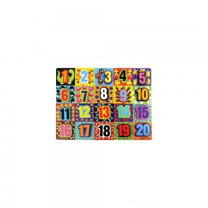 Melissa & Doug Jumbo Numbers Wooden Chunky Puzzle (20pc) - Sale