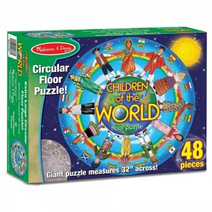 Melissa And Doug Children Of The World Jumbo Floor Puzzle 48pc - Sale