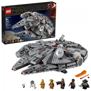 LEGO Star Wars: The Rise of Skywalker Millennium Falcon Building Kit Starship Model with Minifigures 75257 - Sale