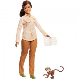Barbie National Geographic Doll with Monkey - Sale
