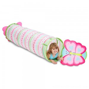 Melissa & Doug Sunny Patch Cutie Pie Butterfly Crawl-Through Tunnel (almost 5 feet long) - Sale