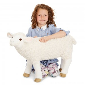 Melissa & Doug Giant Sheep - Lifelike Stuffed Animal (nearly 2 feet tall) - Sale