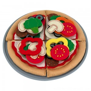 Melissa & Doug Felt Food Mix 'n Match Pizza Play Food Set (40pc) - Sale