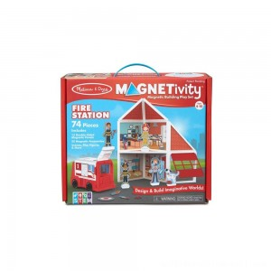 Melissa & Doug Magnetivity - Fire Station - Sale