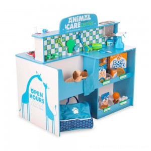 Melissa & Doug Animal Care Veterinarian and Groomer Wooden Activity Center - Sale
