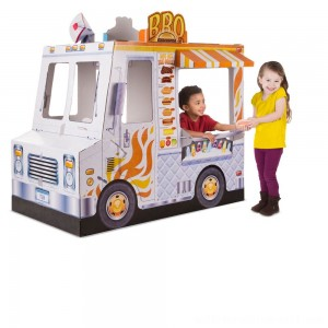 Melissa & Doug Food Truck Indoor Corrugate Playhouse (Over 4' Long) - Sale