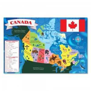 Melissa And Doug Canada Map Jumbo Floor Puzzle 48pc - Sale