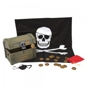Melissa & Doug Wooden Pirate Chest Pretend Play Set - Sale