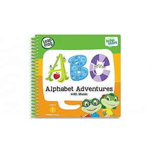 LeapStart® Alphabet Adventures with Music 30+ Page Activity Book Ages 2-4 yrs.