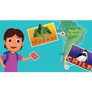 LeapStart® Kids' World Atlas with Global Awareness 30+ Page Activity Book Ages 4-6 yrs.