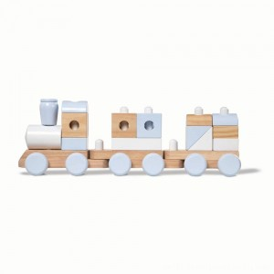 Melissa & Doug Wooden Jumbo Stacking Train - Natural - Sale