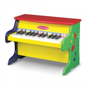 Melissa & Doug Learn-To-Play Piano With 25 Keys and Color-Coded Songbook - Sale