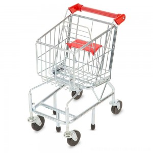 Melissa & Doug Toy Shopping Cart With Sturdy Metal Frame - Sale