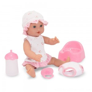 "Melissa & Doug Mine to Love Annie 12"" Drink and Wet Baby Doll - Sale"