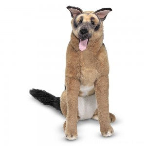 Melissa & Doug Giant German Shepherd - Lifelike Stuffed Animal Dog (over 2 feet tall) - Sale