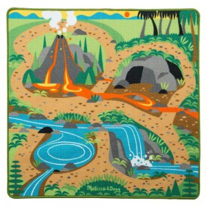 "Melissa & Doug Prehistoric Playground Dinosaur Activity Rug (39 X 36"") - 4 Toy Animals Toy - Sale"