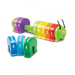 Melissa & Doug Counting Caterpillar - Classic Wooden Toy With 10 Colorful Numbered Segments - Sale