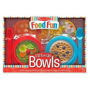 Melissa & Doug Create-A-Meal Fill Em Up Bowls (12pc) - Play Food and Kitchen Accessories - Sale