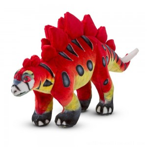Melissa & Doug Giant Stegosaurus Dinosaur - Lifelike Stuffed Animal - Sale