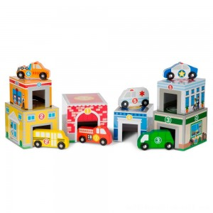 Melissa & Doug Nesting & Sorting Toys - Buildings & Vehicles - Sale