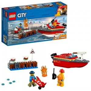 LEGO City Dock Side Fire 60213 - Sale