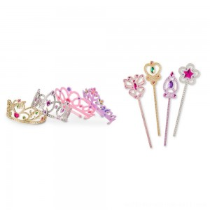 Melissa & Doug Role Play Dress-Up Bundle - Tiaras and Wands - Sale