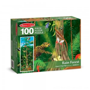 Melissa & Doug Rainforest Jumbo Jigsaw Floor Puzzle 100pc - Sale
