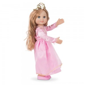 Melissa & Doug Celeste 14-Inch Poseable Princess Doll With Pink Gown and Tiara - Sale