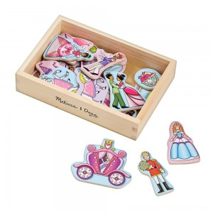 Melissa & Doug 20 Wooden Princess Magnets in a Box - Sale