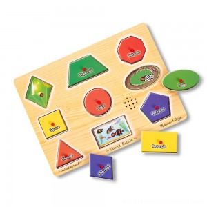 Melissa & Doug Assorted Shapes Sound Puzzle Set - 9pc - Sale